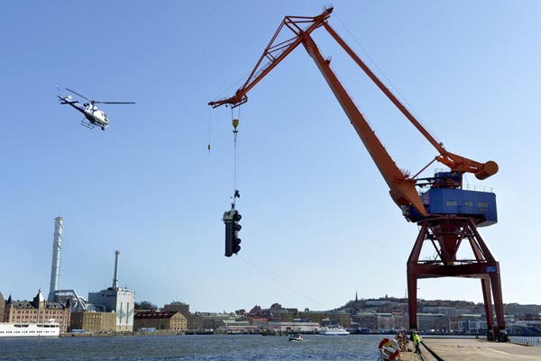 FMX above harbour
