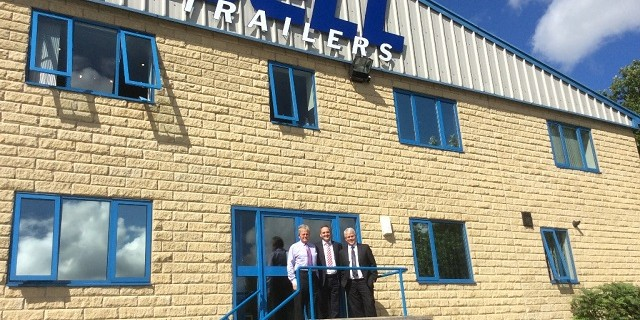 Michael Bell (Bell Trailers), Mike Furnival (TIP Trailer Services) and Tom Abernethy (Bell Trailers)